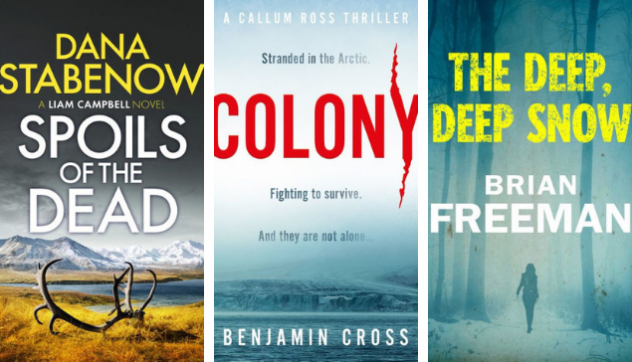 Three eBook covers on white background