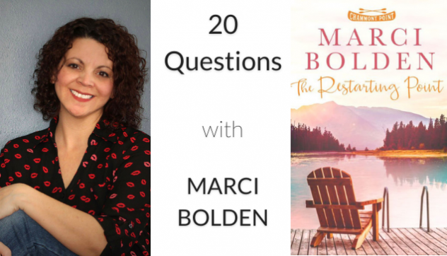 Photo of author Marci Bolden with Book Cover